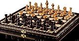AJEDREZ OLÍMPICO de CEREZA y DAMAS - juego de ajedrez de madera 35cm/14 en a mano con damas