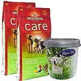 MERA Dog 2 x 12,5 kg CARE LIGHT Hundefutter Übergewicht weizenfrei + Futtertonne