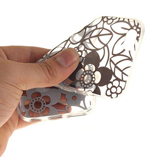 iPhone 6S Hülle,iPhone 6 Hülle,iPhone 6 6S Silikon Hülle [Kratzfeste, Scratch-Resistant], Cozy Hut iPhone 6 6S (4,7 Zoll) Hülle TPU Case Schutzhülle Silikon Crystal Kirstall Clear Case Durchsichtig, F Blumen-Skizze