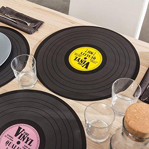 Tischset-Platte-Vinyl-Schallplatte