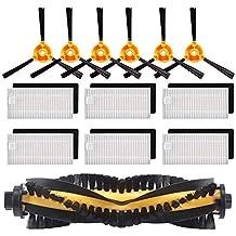 SODIAL Kit De Accesorios De Reemplazo Filtro Cepillo Principal Cepillo Lateral para Ecovacs Deebot N79S N79