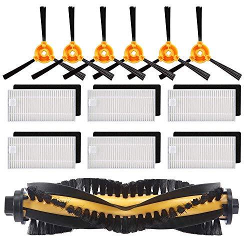 SODIAL Kit D'Accessoires de Remplacement Filtre Brosse Principale Brosse Latérale pour Ecovacs Deebot N79S N79 Robotique Aspirateur (Filtre + Brosse)