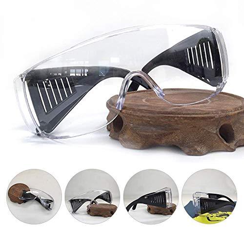 Brille, Anti Shock Splitterfrei STK. Schutz Sicherheit Mehrzweck Erwachsene Anti Beschlagen Louver-Style Mode Anti-Chemical Staubschutz Brille - Schwarz, Free Size
