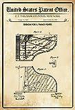 ComCard US Patente - Design for a Piano Forte - Entwurf für einen Klavier - Steinway - 1880 - Design No 9431 - Schild aus Blech, Metal Sign, tin