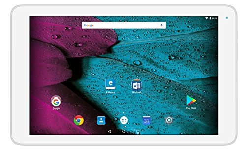 Odys PACE 10 25,7 cm (10,1 Zoll HD IPS) Tablet-PC (1,3GHz Quad Core Prozessor Mediatek MT8163, 1GB RAM, 16 GB HDD, ARM Mali T720 MP2, Android 7.0) weiß
