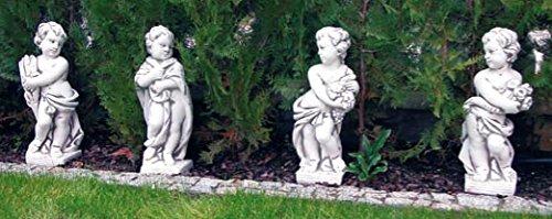 Set Putten vier Jahreszeiten (S244+S245+S305+S306) Gartenfiguren Kinder Statuen Steinguss -