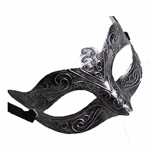 Maskerade,Halloween Abschlussball Party Maske männliche Retro- Jazzmaske Antike Silber 1 Masquerade
