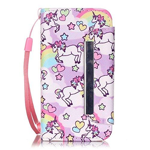 Chreey Apple Iphone 4 / 4S (3.5 Zoll),Hülle Cover Case Leder Muster Flip Etui ,Kreditkartenslot,Karte Halter-Magnetverschluß-Klappbar Stand,Perfekt zum Schutz Ihres Telefons