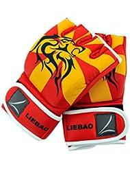 Guantes de MMA UFC Kick Boxing boxeo guantes formación correa de muñeca Apoyo lucha saco de boxeo (tamaño mediano)