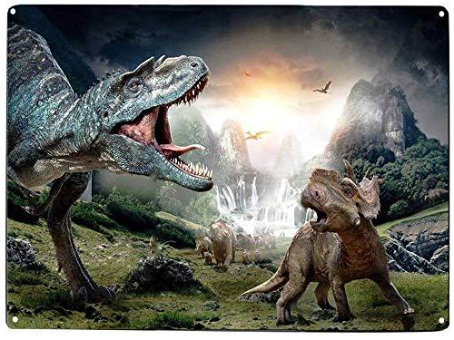 orld Neuheit Tiere Kreuz Vintage Blechschild Wand Outdoor Garten Deko Bar Schild Dinosaurier Thema Geburtstag Party Supplies 20,3 x 30,5 cm ()