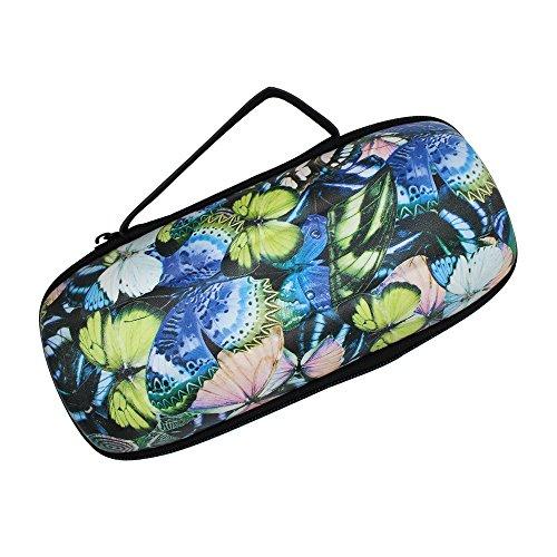 Pushingbest Tasche für JBL Charge 3 Bluetooth Lautsprecher Harte PU und EVA Carry Case Schutzhülle Dynamic Butterfly Figure -