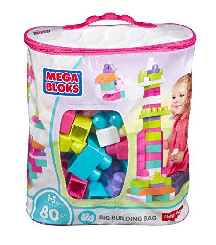 Megabloks - 8328 - Jouet De Premier Age - First Builders - Sac Rose - 80 Briques