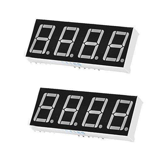 "YuLinStyle LDTR-YJ039 0,56\""4bit Gemeinsame Anode Rote LED-Digital-7-Segment-Anzeige - pcs 2pcs PCB-Entwicklungsplatine Modul DDR3 Blink Peltier"
