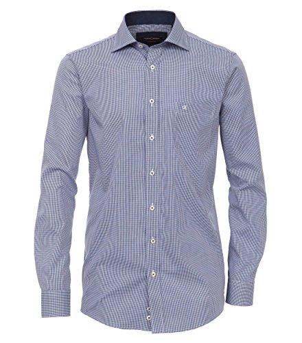 Casa Moda - Comfort Fit - Kariertes Herren Business Hemd, Bügelfrei (006360) Blau (101)