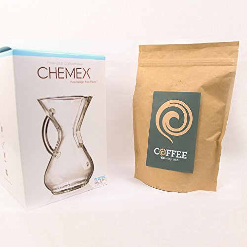 Chemex-3-6-Glass-Handle-Coffee-Maker-and-Coffee-of-the-Month