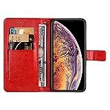 KISCO pour Coque Apple iPhone XS Max,Flip Housse en Cuir Magnetic [Cheval Fou...
