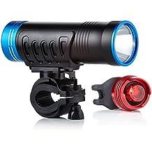 Camden Gear VIVID XVI Luci a LED per bicicletta, luminosità 200 lumen, facili da montare, per faro anteriore e posteriore - 16 Cut Off Wheel