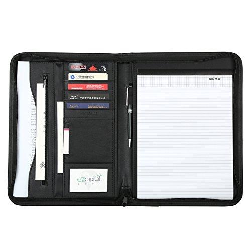 Leathario-Portfolio en cuir PU, porte document, portfolio cuir pour bureau, agenda d'affaires en cuir, chemise de dossier en cuir, portfolio cuir pour directeur