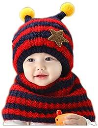 Youson Girl® Bufanda y Gorra de Niña Gorra de Invierno Cálido Sombrero de Niños con Orejas para Sombreros de Bebé