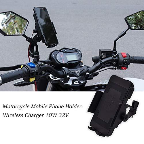 Soporte para teléfono móvil con cargador inalámbrico para motocicle