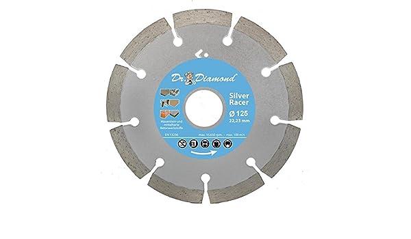 Baumaterial 3x Diamanttrennscheibe Beton 125 Silver Racer Diamant-Trennscheibe f/ür Beton Leichtbeton Altbeton Mauerstein Verbundstein und allg