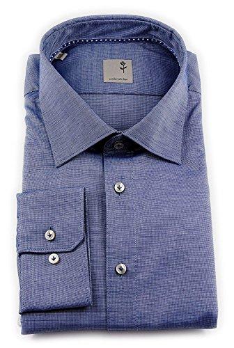 Seidensticker Herren Langarm Hemd Schwarze Rose Slim Fit Paul Tape2 blau strukturiert 243160.17 Blau