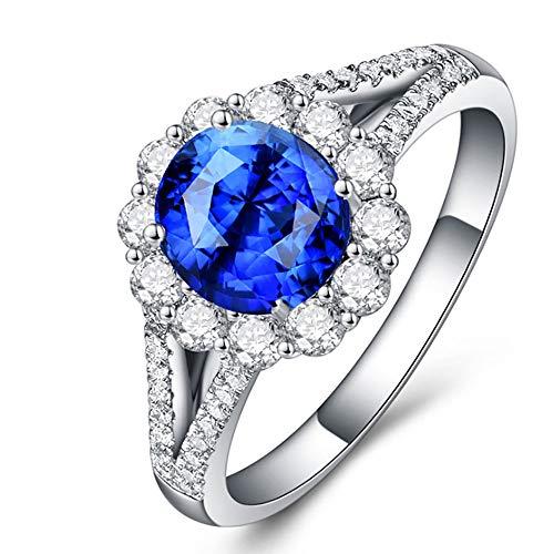 FXY Wunderschöner Saphirring aus Sterlingsilber für Damenmode
