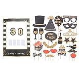 Amosfun 30 ans, anniversaire, cadre photo, joyeux anniversaire, photomaton, accessoires, 30e anniversaire, fête, photo, pose, accessoires