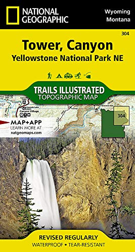 Yellowstone / Canyon, WY: NATIONAL GEOGRAPHIC Trails Illustrated National Parks (National Geographic Trails Illustrated Map, Band 304) -