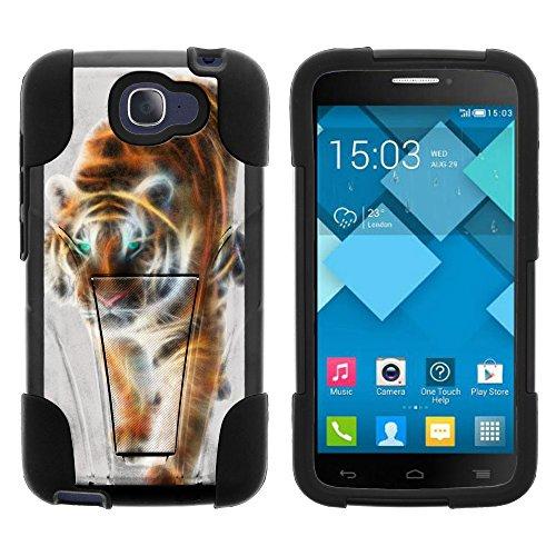 MiniSuit Schutzhülle für Alcatel One Touch Fierce 2 7040T, Alcatel Pop Icon A564C (T Mobile, Metro PCS, Straight Talk) von Miniturte (inklusive Displayschutzfolie und Eingabestift), Blazing Tiger