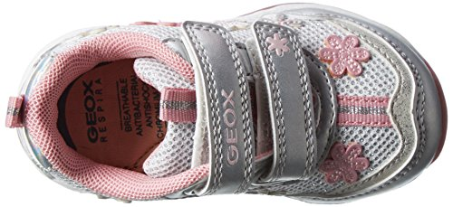 Geox Todo G A, Chaussures Bébé marche bébé fille Blanc (White/silverc0007)