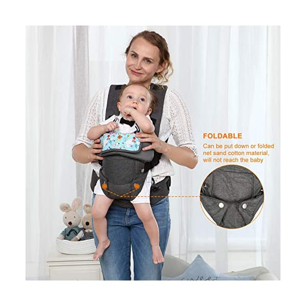 Xatan Baby Convertible Carrier, All Carry Position Newborn to Toddlers Ergonomic Carrier with Soft Breathable Air Mesh and All Adjustable Buckles Xatan ERGONOMIC CARRIER -- The premium quality baby carrier provides a convertible, ergonomic, facing-in/out,back carry etc different seat position, which offers the baby comprehensive care and support and also can help parents or carer free hands to do other work. PREMIUM QUALITY -- The Ergonomic Carrier is specialized customized with high quality and fine workmanship.Every details was revised repeatly! We are committes to offer the comfortable caring for your babies! COMFORTABLE HEAD/LEG SUPPORT -- The head and thigh support part can be adjusted according to the baby's body! The baby carrier will make sure the padded head support will hold small infants comfortably! 2