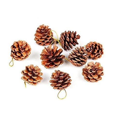 Hunpta 9pcs Kiefer Kegel Kugel Xmas Tree Weihnachtsfeier hängende Dekoration Ornament (A)