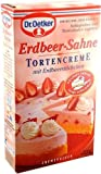 Tortencreme Erdbeer- Sahne, Dr. Oetker, 1x Cremepulver für 800ml Flüssigkeit