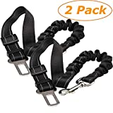 Tavie 2 Pack Dog Car Harnesses Seat Belt Anti Shock Pet Cat Bungee