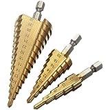 Lesoleil HSS Hex Shank Pagoda Stufenbohrer 4-12 / 4-20 / 4-32, 3er Pack
