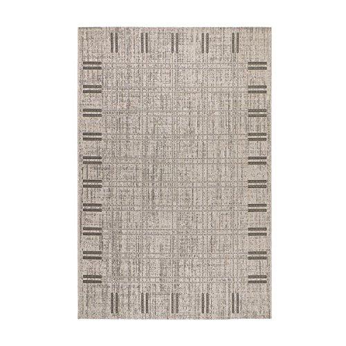 *havatex Sisal-Look Flachgewebe Teppich Lux Frame 1 Grau – robuste Kunstfaser in Sisal-Optik | pflegeleicht & strapazierfähig | für Wohnzimmer Schlafzimmer, Farbe:Grau, Größe:160 x 230 cm*