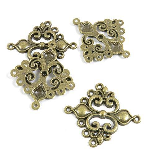 E7BE4O Schmuckanhänger/Anhänger Lilie, Antik-Bronzefarben, Fleur de Lis antique bronze - Bronze Fleur De Lis