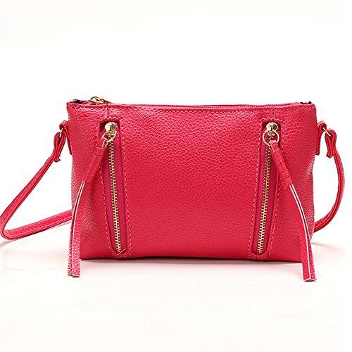 Mefly Ms Diagonale Multicolore Bangalor Grazioso Sacchetto Nero Pink