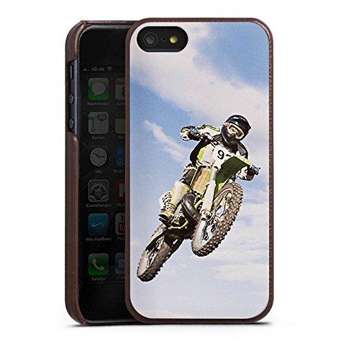 Apple iPhone 6s Lederhülle Leder Case Leder Handyhülle Motocross Motorrad Motorsport Leder Case braun