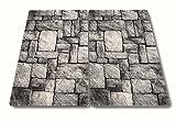 2 x Glas Herdabdeckplatte Herdabdeckung Schneidebrett Abdeckplatte Ceranfeld Design Steine Stone Mauer