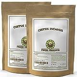 CISTUS INCANUS | 2 x 500g/1kg ZISTUSKRAUT | ZISTROSENBLÄTTER reich an Polyphenolen | Premium-Qualität im wiederverschließbaren Frischebeutel