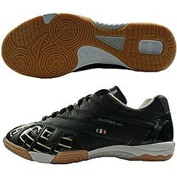 AGLA PROFESSIONAL FANTHOM AIR CONDOR INDOOR scarpe calcetto in pelle con anti-shock (EUR 41.5, Nero)
