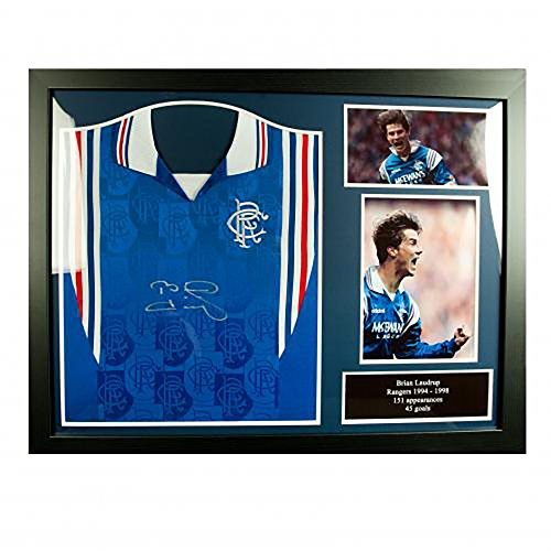 Rangers-FC-Framed-Signed-Shirt-LAUDRUP
