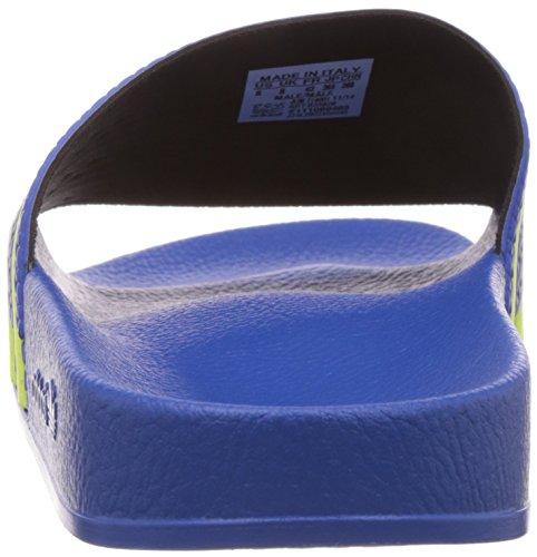 Adidas Adilette, Piscine Et Plage Adulte Mixte Bleu (Bluebird/Light Flash Yellow S15/Bluebird)