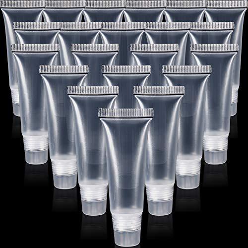 30 Stücke Lipgloss Rohr Klare Leere Behälter Nachfüllung Leere Röhrchen Lip Balm Weiche Rohr für Frauen Mädchen Kosmetik DIY (10 ml) -