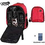 Brain Freezer J Lightweight Nylon, Polyester Camera Backpack Bag for DSLR/SLR Camera Lens (Red Black)