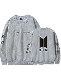 SERAPHY Unisex BTS Kapuzenpullover BTS Pullover Bangtan Boys Love Yourself Rundhals Sweatshirts für Armee Suga Jimin Jin Jung Jook J-Hope Rap-Monster V