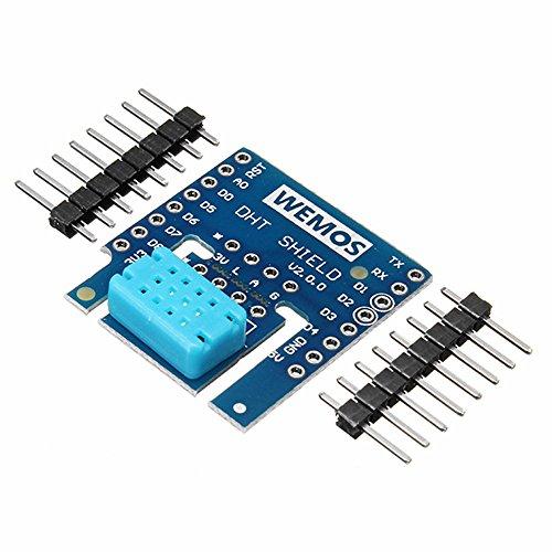 Ils–3Pièces DHT Shield v2.0.0pour wemos D1Mini dht12I2C Module numérique Température–humidité