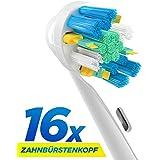 16 Stk. (4x4) Floss Action Ersatzbürsten kompatibel mit Oral-B elektrischen Zahnbürsten. Ersatz für EB25 Oral-B Tiefenreinigung Aufsteckbürsten. Voll kompatibel mit Oral-B Vitality, Professional Care und anderen elektrischen Zahnbürsten. Ersatzbürsten von ORAX® PearlClean.